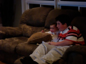 a much younger nephew teaching a much younger davis about looney tunes babies
